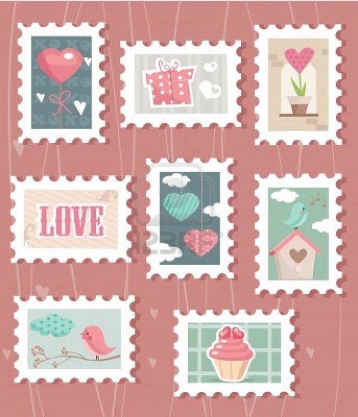 Postzegels voor thema post