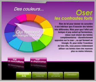 harmonie de couleur bordeaux   ... de créer et de voir les associations de couleurs selon 4 harmonies de