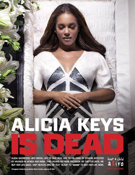 alicia keys keep child alive coffin - Google Search