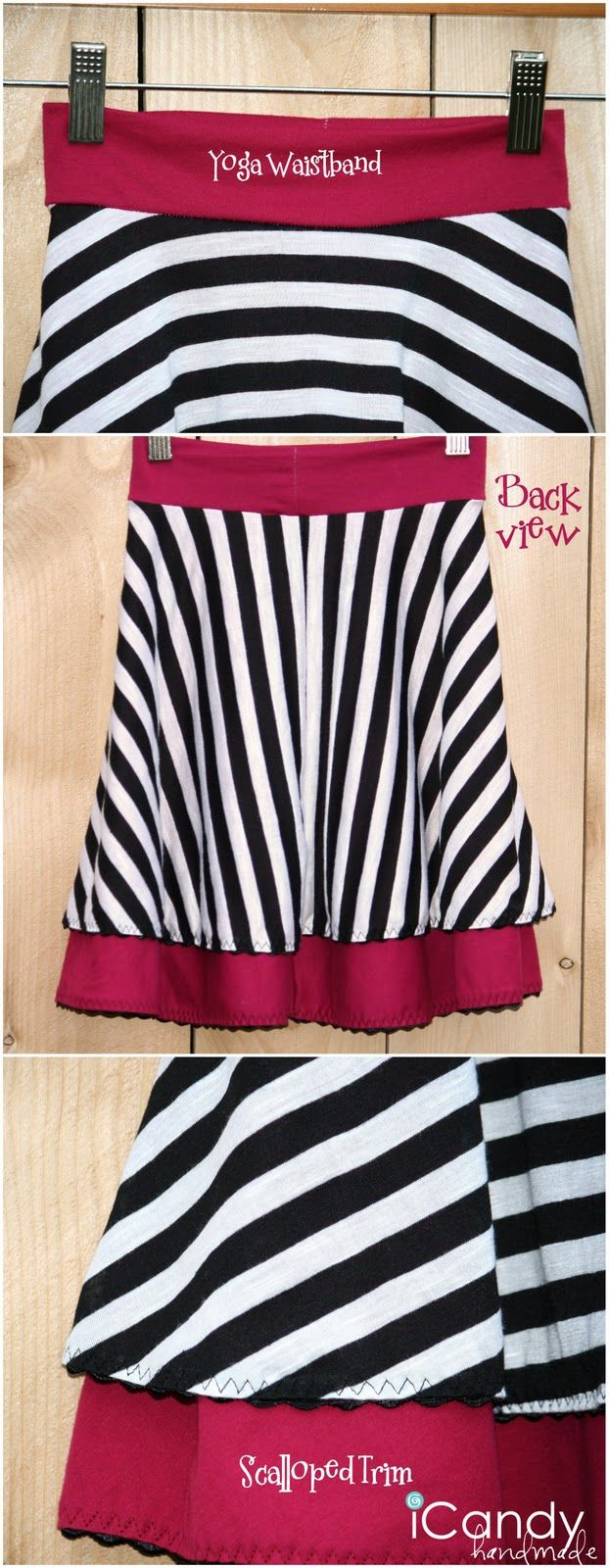 2066 best sewing for kids images on pinterest sewing for kids layered circle skirt this tutorial is for a little girl version of this casual knit skirt but could be adapted to suit an adult woman bankloansurffo Image collections