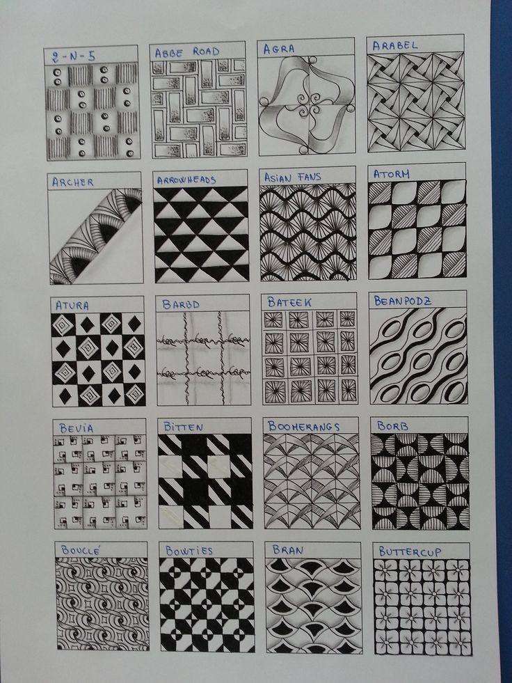 Tangle patterns 2