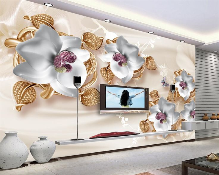 Beibehang Custom Wallpaper Large Luxury 3D Jewelry Flower 3D Wallpaper  Living Room Bedroom TV Mural Wallpaper Part 98