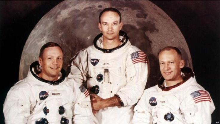 The Apolo XI crew:Neil Armstrong, Michael Collins, Buzz Aldrin