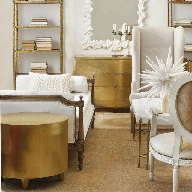Inspiration White And Gold Interiors Living Rooms Gold Interior