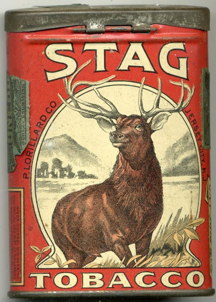 Stag Tobacco Pocket Tin - by Mebane Antique Auction
