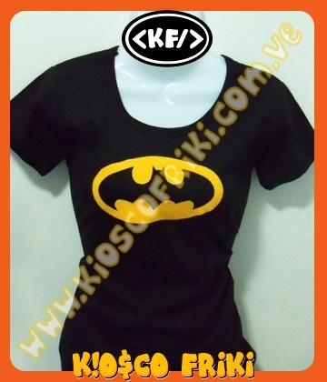 Blusas Damas con aplicación Batman