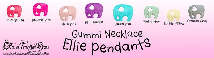 Ellie Pendants for Gummi Nursing/Teething Necklaces ♡  Find it at https://www.facebook.com/EllasTrinketBox