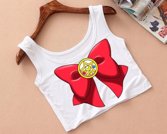 Sailor Moon Inspired Bow Crop Top SP179250