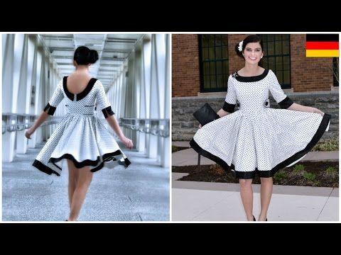 50 iger Jahre Kleid selber nähen - Vivienne Schnittmuster - YouTube