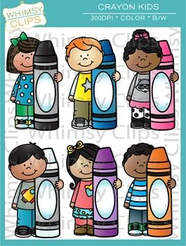 The Kids with Crayons clip art set contains 31 image files, which includes 20 color images and 11 black & white images in png and jpg. All images are 300dpi for better scaling and printing. $