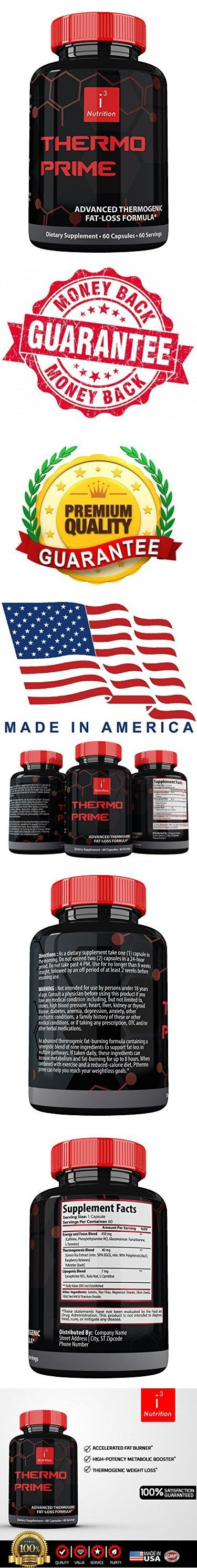 Thermo Prime by i3 Nutrition - Best Thermogenic Fat Burner Supplement - Rapid Weight Loss - Enhanced Mental Clarity - Nootropic Advanced Focus - Fat Loss Formulation for Men & Women - 60 Count
