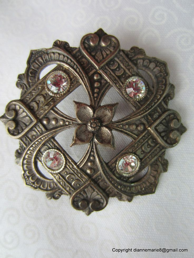 French Metal, 1930s, Paste and Open Work