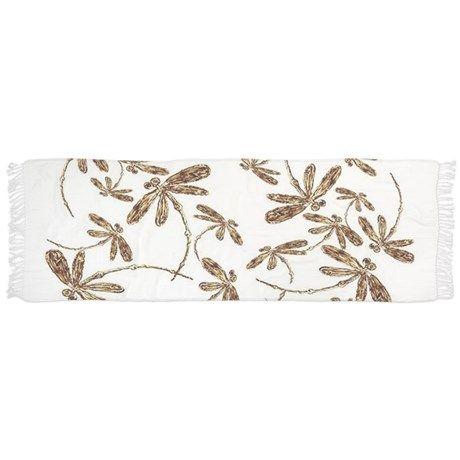 Golden Dragonfly Frenzy Scarf - original classic design. #dragonflies #gold #scarf