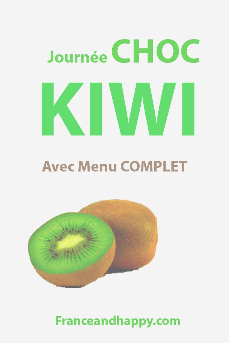 Dans cet article je vous donne le programme d'une journée Choc KIWI ! Cette journée diet vient du programme Naturhouse.