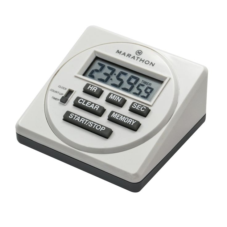 Amazon.com: MARATHON TI080001 Large Digital Timer 24 Hour With Countdown,  Countup U0026