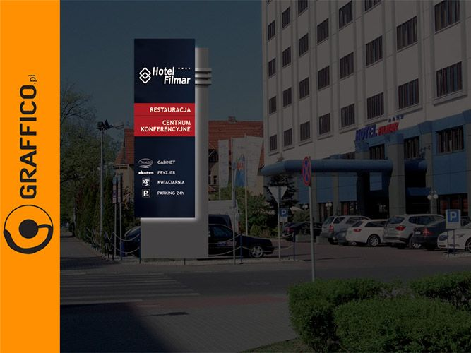 Signage manufacturer, illuminated signage, signs assembly, Graffico, pylon signage, illuminated pylons, reklama świetlna, producent reklam świetlnych, producent reklam Toruń, illuminated logo, freestanding signs, advertising towers, słup reklamowy, słupy reklamowe, pylon reklamowy, pylony, pylon, totem, totemy, directory signs, welcome signs, high visibility signs, corporate logo, external corporate signage, podświetlane logo, reklama obrotowa