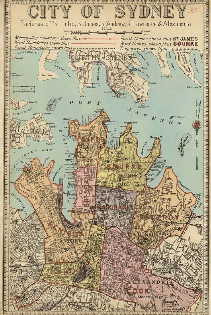 Picture Of Map Of Australia%0A City of Sydney Map measuring cm Fast shipping from Sydney  Australia