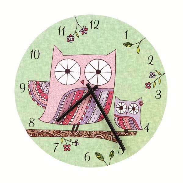 Mud Puppy Wall Clock - Owl