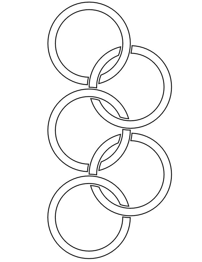 Olympic rings coloring page