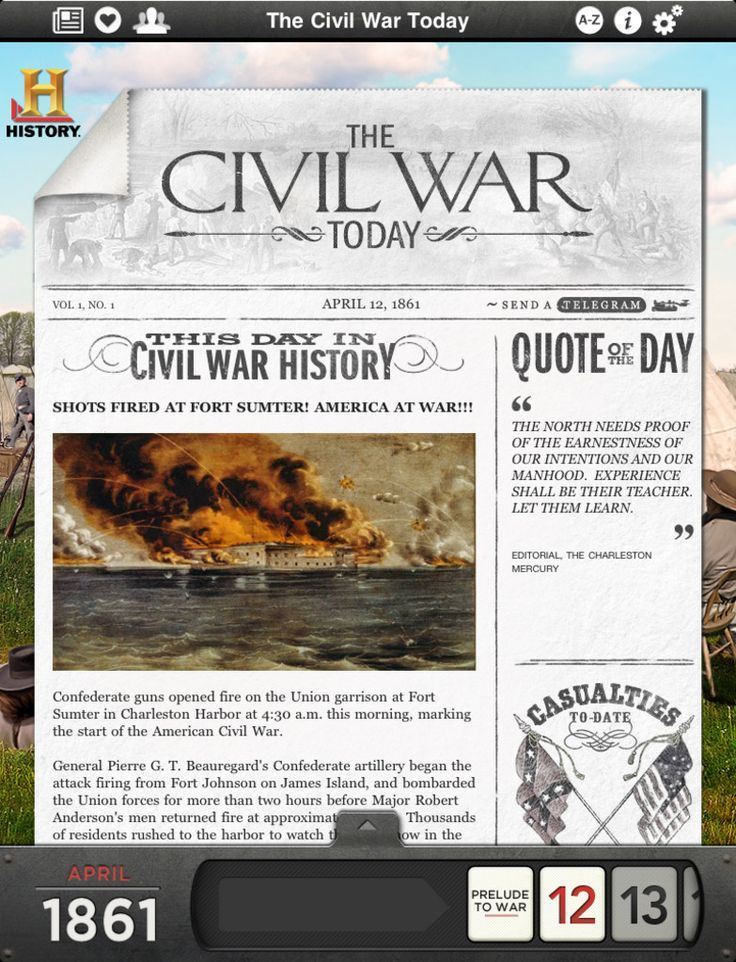 "U.S. history apps that are ""revolutionizing"" education. I have the Civil War App, and it is so amazing it is hard to describe! It is based on a day by day exploration into what was happening...includes letters from both northern and southern people involved in the war, newspaper articles and more. It is a treasure of primary source materials!"