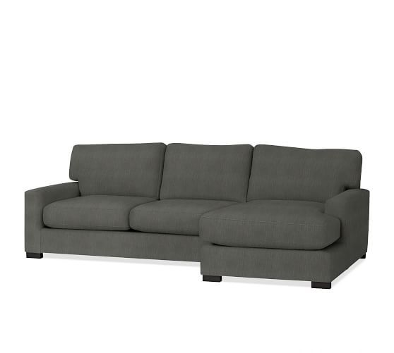 turner square arm upholstered sofa with chaise sectional
