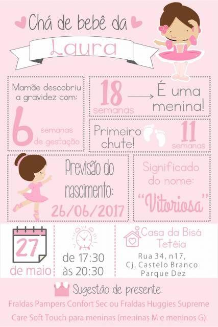 Convite Chá De Fraldas 85 Ideias Adoráveis Modelos Para Imprimir