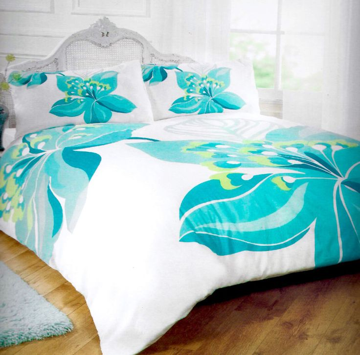 CHARLOTTE TEAL LILY Modern Floral Decorative Duvet & Pillow Case Set Double Bed in Home, Furniture & DIY, Bedding, Bed Linens & Sets | eBay #bed #bedding #duvet #bright #teal #turquoise #floral #flowers #cool #stylish #thatsdarling #bedroom #style #decor #modern #cosy #relax #relaxing #doubleduvet #home #linen #homedecor #homestyle #interior #design #HarvardMills #LordOfTheLinens