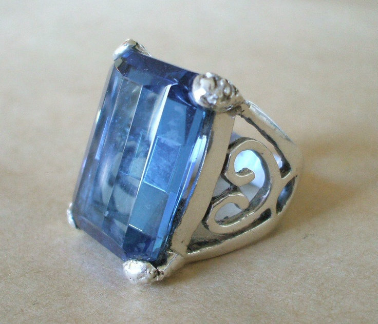 TAXCO Mexico Artisan MARIA ELENA MUNOZ Sterling Silver BLUE CRYSTAL RING sz 7.25 | eBay
