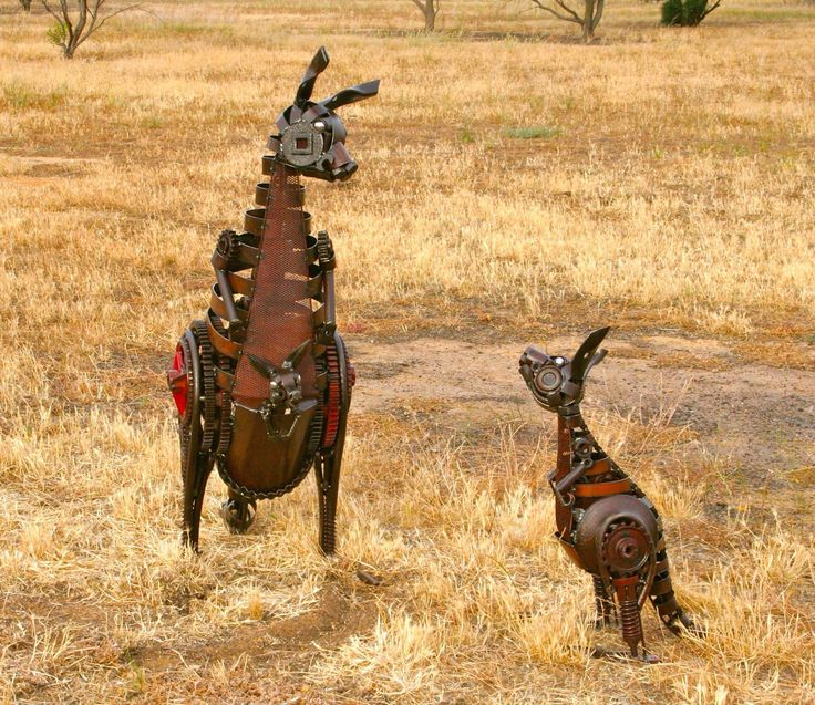 Western Red kangaroos - Jordan Sprigg Sculptures