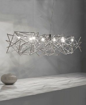 This is really cool - i like the geometric look of it - Etoile Chandelier | Christian Lava for Terzani