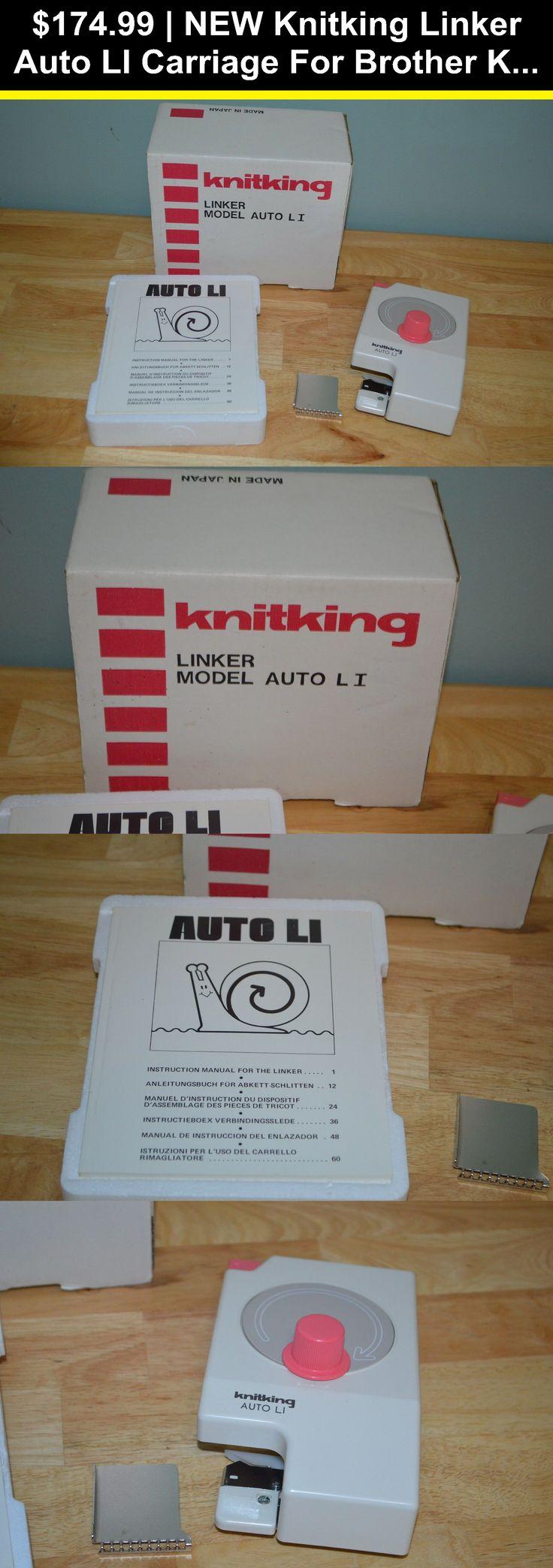 Machine Knitting 146370: New Knitking Linker Auto Li ...