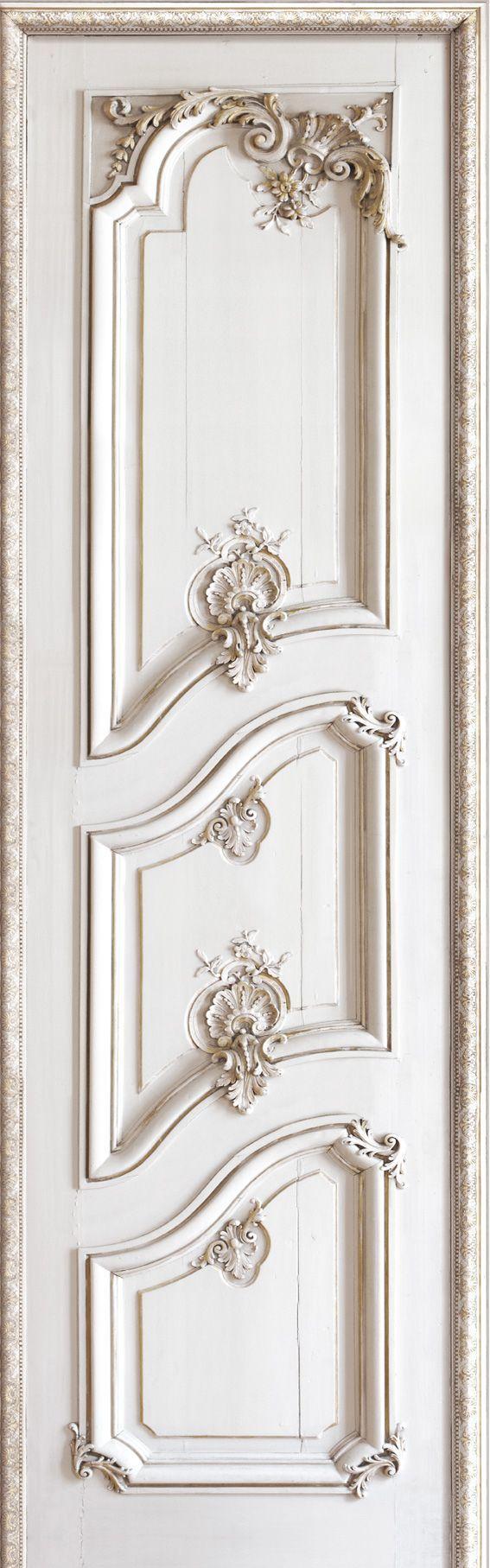 French Trompe loeil wallpaper by Christophe Koziel - Left panelled door