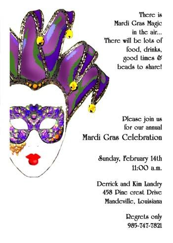 Read About The Most Correct Mardi Gras Party Invitation Etiquette