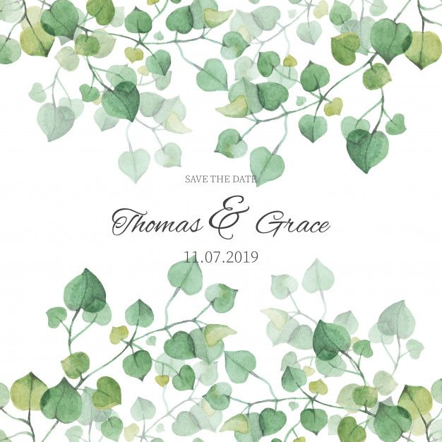 Download Watercolor Eucalyptus Leaves Banner For Free In 2020