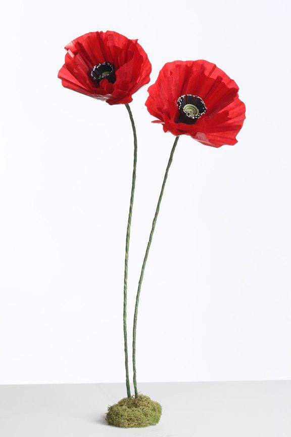 DIY Poppy Paper flowers… easiest tutorial I've seen.