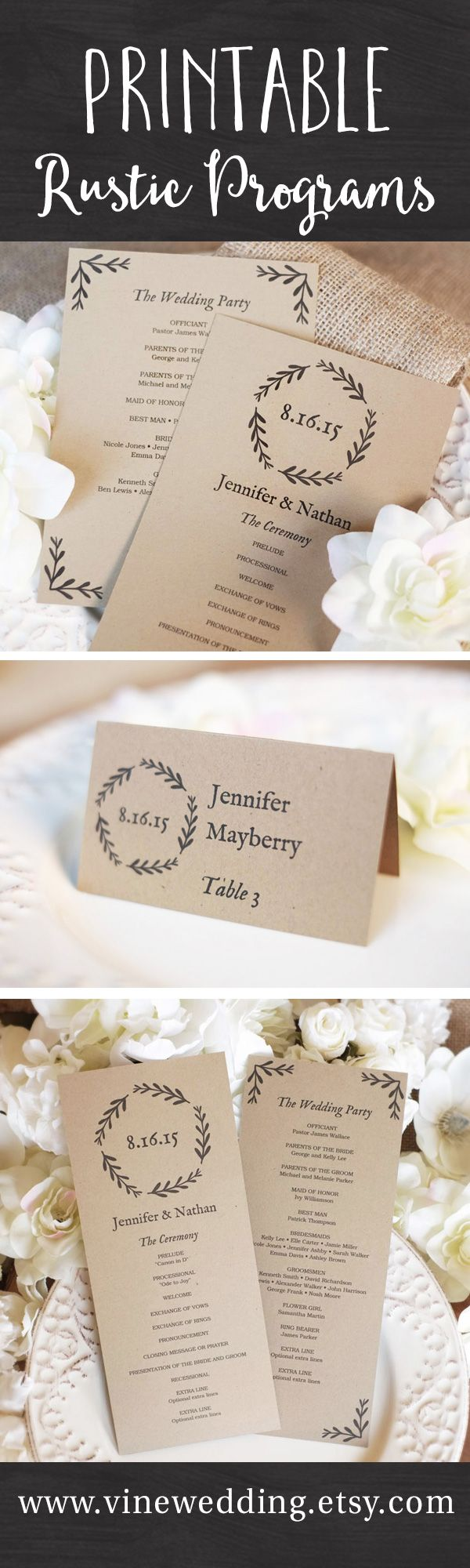 88 best Wedding Programs images on Pinterest | Weddings, Invitations ...