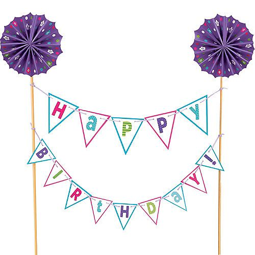 Happy Birthday Pennant Banner Cake Topper Party City