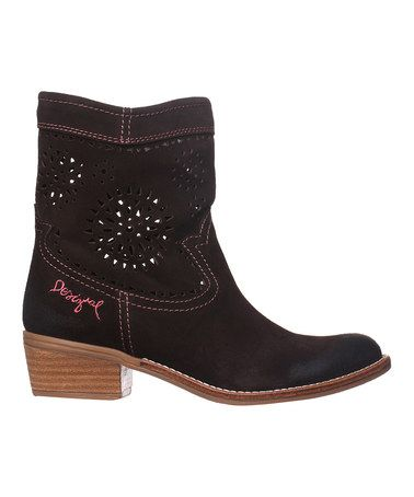 Look what I found on #zulily! Black Coffee Camperas Boots by Desigual #zulilyfinds