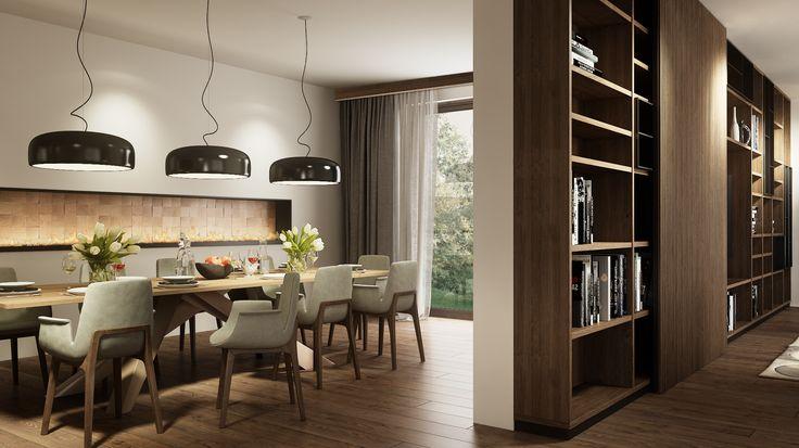 dining / book case  ::: design: Mario Stoica     #Poliform