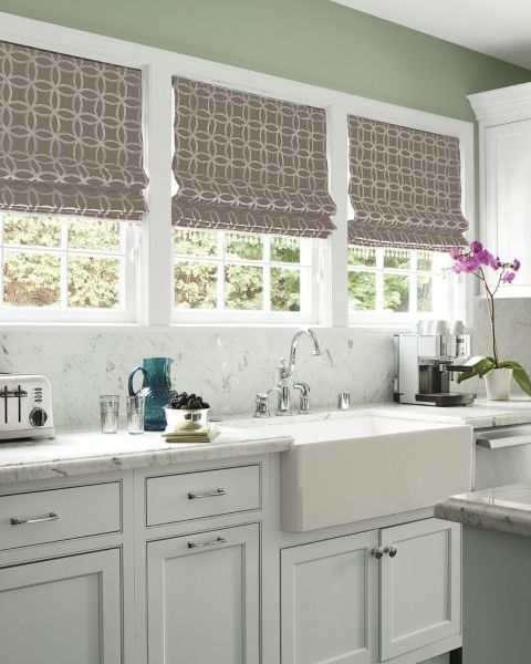 Flat roman fabric shades 14397 kitchen window treatments pinterest flats embroidery and - Pinterest kitchen window treatments ...