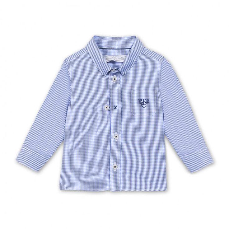 Tartine et Chocolat Blue Checkered Shirt