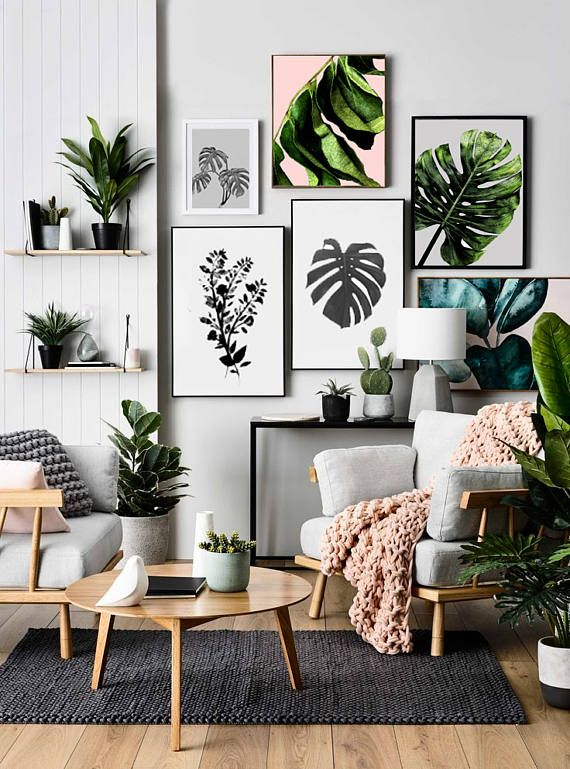 Leaf Print, Botanical Print, Scandinavain Print, Nature Inspired Home Decor. Prints starting from $6.69!