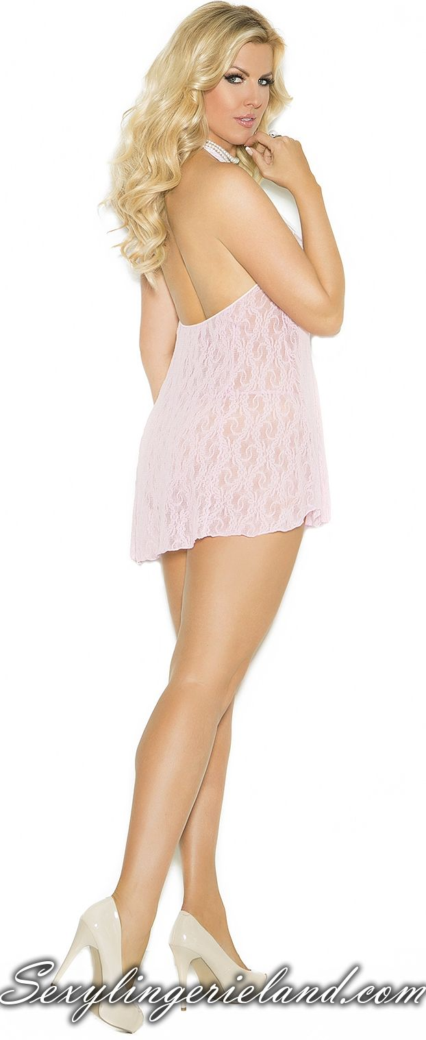 Baby pink chemise $16.50 Baby #pink #minidress for hot evenings with your lover. Nice lace pattern is adding #beauty and charm. Simple and #sexy #chemise is also available in #plussize G-string included. Be hot girl in #cute womens chemise. #lingerie #outfit #sexylingerieland #XXL #BBW #musthave #ilike #girly