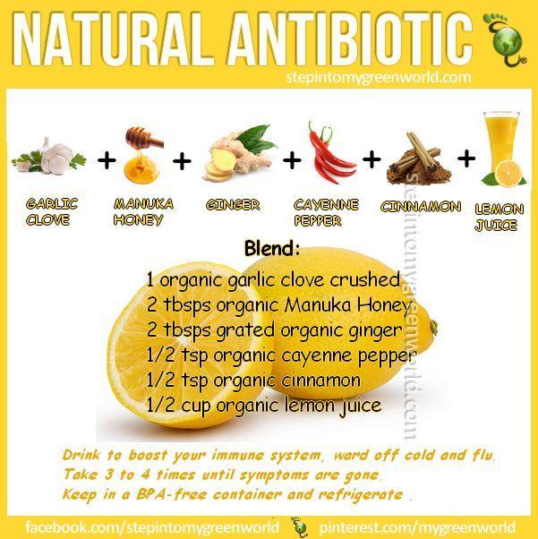 Garlic is a fantastic natural antibiotic!