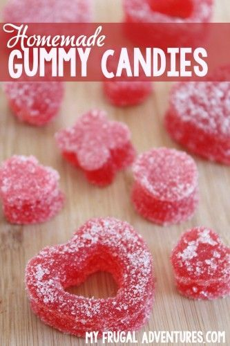 Homemade Gummy Candy Recipe- so easy and so fun. Use any flavor, color, shape you like-- the possibilities are endless.