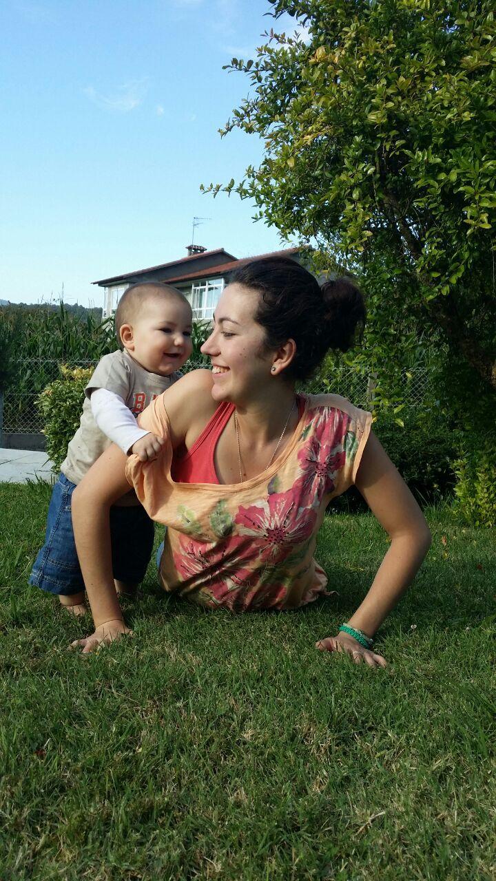 Yoga con mi bebé. #cobra #yogamamáybebé #yoga #babyyoga #yogainnature