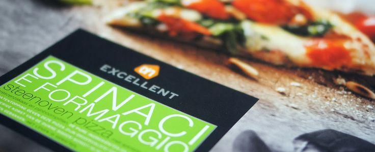 Gewoon wat een studentje 's avonds eet: Diepvriespizza AH Excellent Spinaci & Formaggio