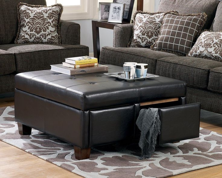 8 Plush Tufted Ottomans To Add Comfort And Functionality To Your Living  Space. Ottoman With StorageCoffee Table ...