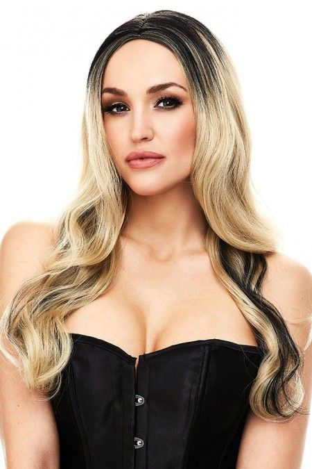 Hailey Wig in Blonde with Black