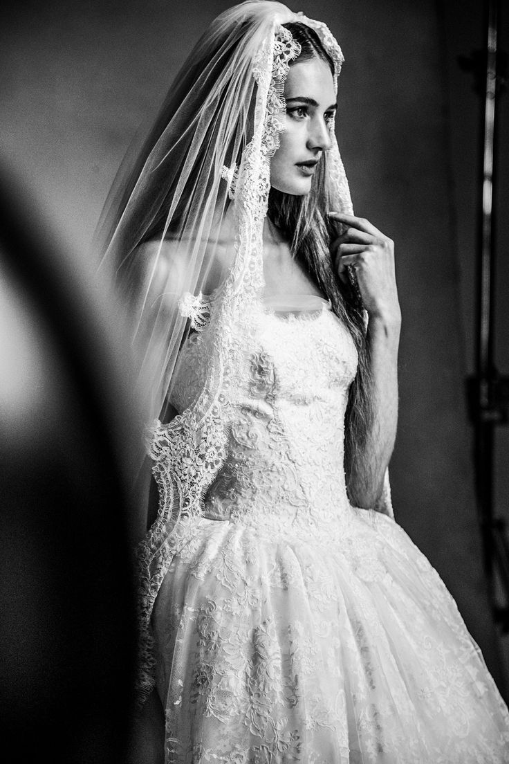 A mantilla veil is the perfect way to incorporate traditional wedding details into your big day. Shop this lace appliqued cathedral length veil by WHITE by Vera Wang exclusively at David's Bridal